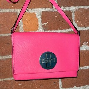 Kate Spade Hot Pink Sally Crossbody Twist Lock Bag